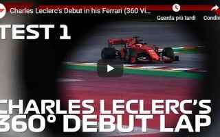 Formula 1: ferrari leclerc motori f1 video