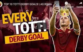 Calcio: roma totti derby calcio video