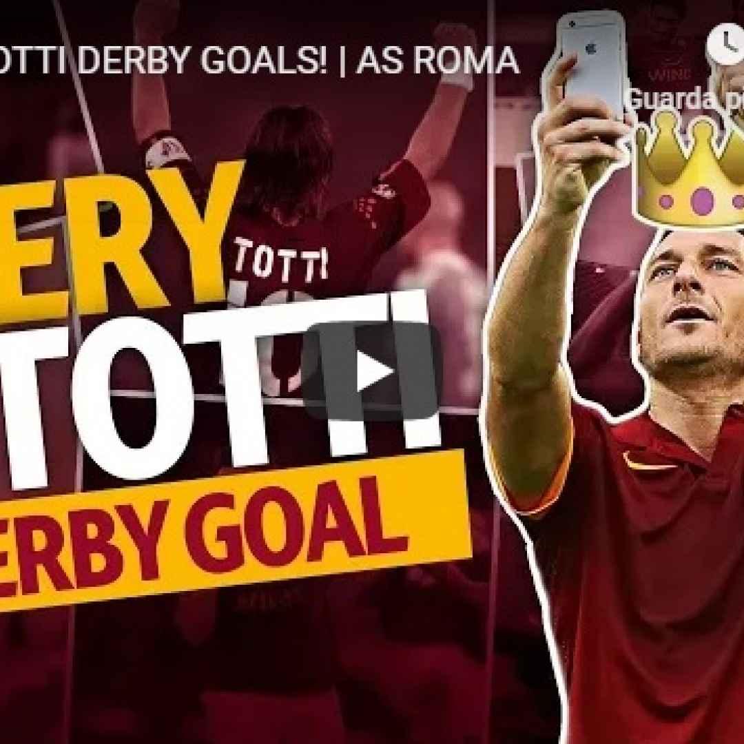 roma totti derby calcio video