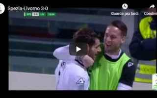 Serie B: spezia livorno video gol calcio