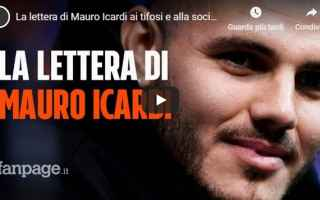 Serie A: inter calcio video lettera icardi