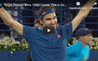 Tennis: roger federer video tennis sport