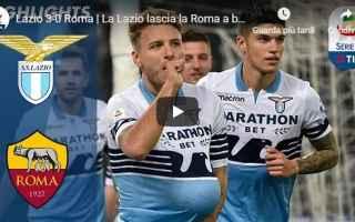 Serie A: lazio roma video gol calcio