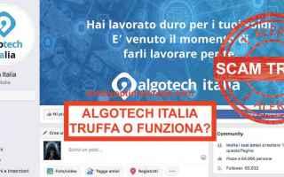 Borsa e Finanza: algotech italia  facebook  trading  scam
