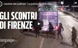 Calcio: firenze video tifosi atalanta polizia