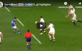 Rugby: inghilterra italia video rugby sport