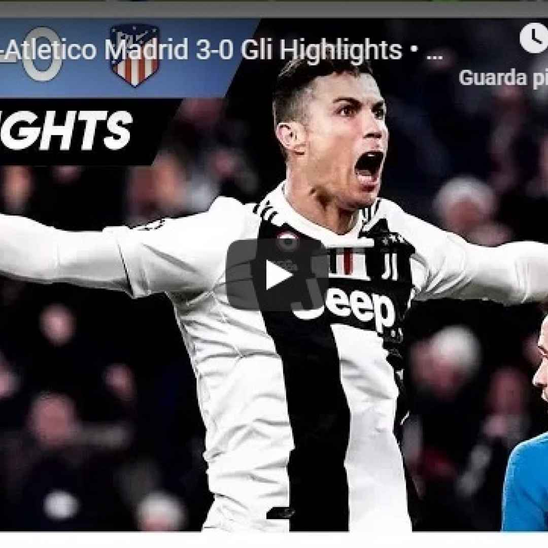 juventus atletico video gol calcio