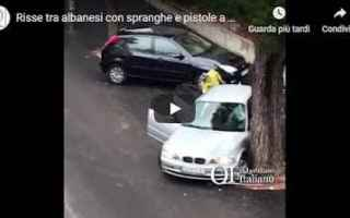 Bari: video rissa albanesi bari rutignano