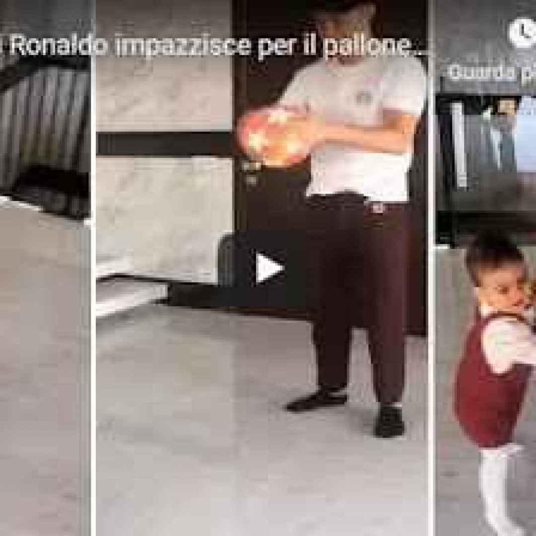 La figlia di Cristiano Ronaldo impazzisce per il pallone della tripletta contro l