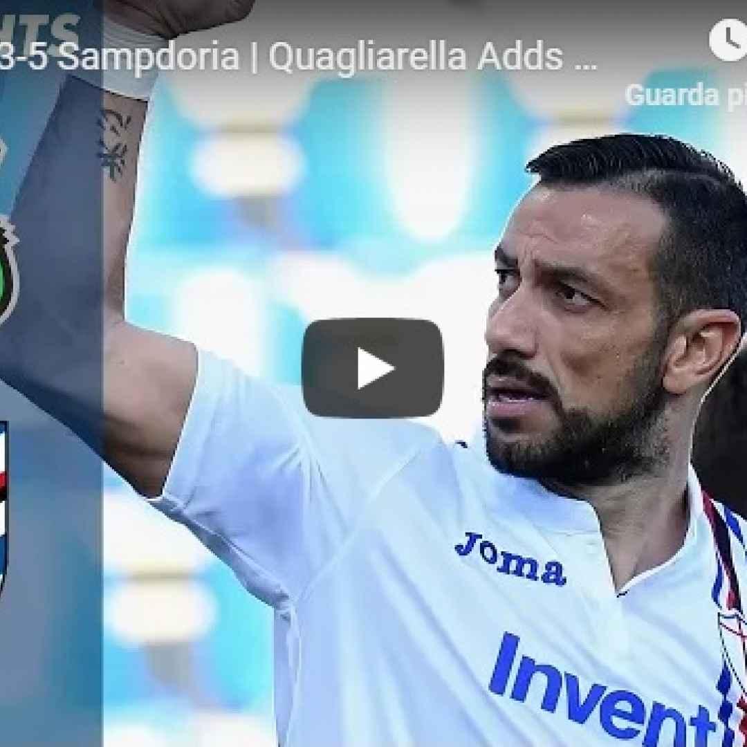sassuolo sampdoria video gol calcio