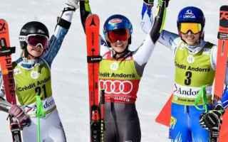 Sport Invernali: SCI ALPINO: FINALI GIGANTE DONNE-SLALOM UOMINI: SHIFFRIN E NOEL BATTONO ROBINSON-FELLER