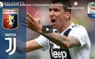 Serie A: genoa juventus video gol calcio