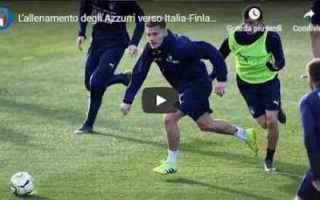 Nazionale: video azzurri italia calcio allenamento