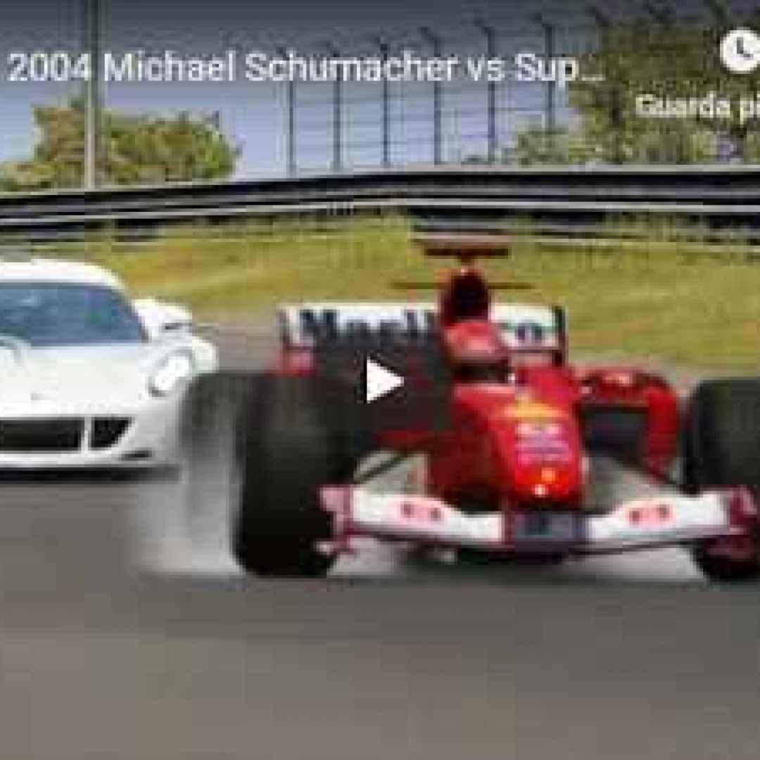 schumacher motori ferrari video f1