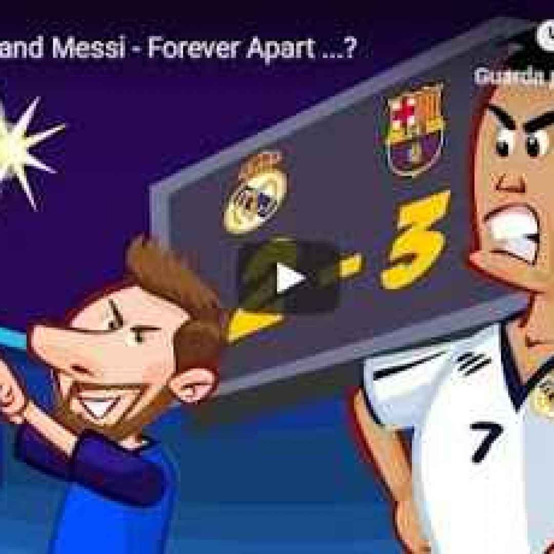 Ronaldo vs Messi - Il cartone animato della Just Cartoons - VIDEO