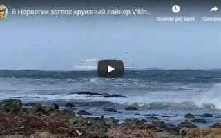 video nave crociera avaria mare