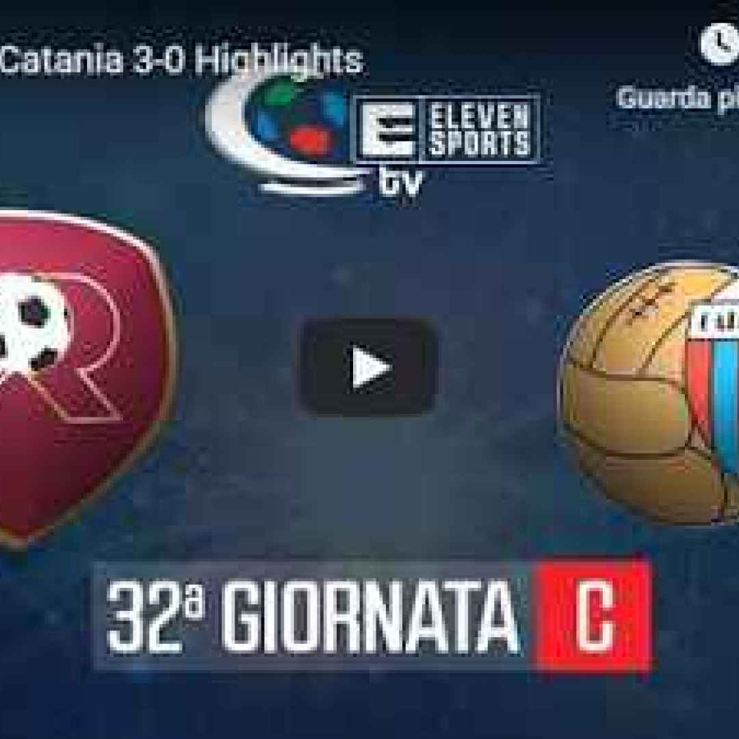 reggina catania video gol calcio