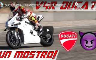 Motori: video moto ducati motori test