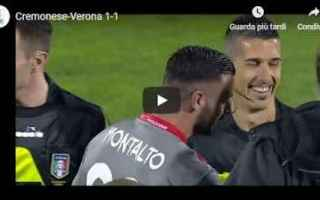 cremonese verona video gol calcio