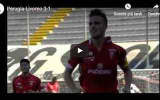 perugia livorno video gol calcio