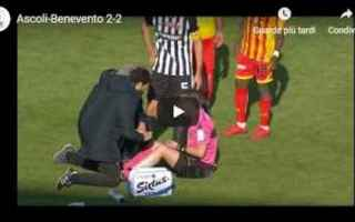 Serie B: ascoli benevento video gol calcio