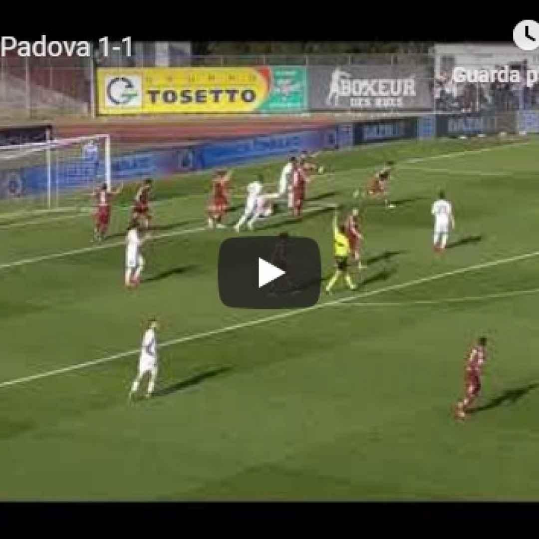 cittadella padova video gol calcio