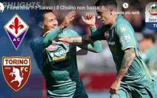 Serie A: fiorentina torino video gol calcio
