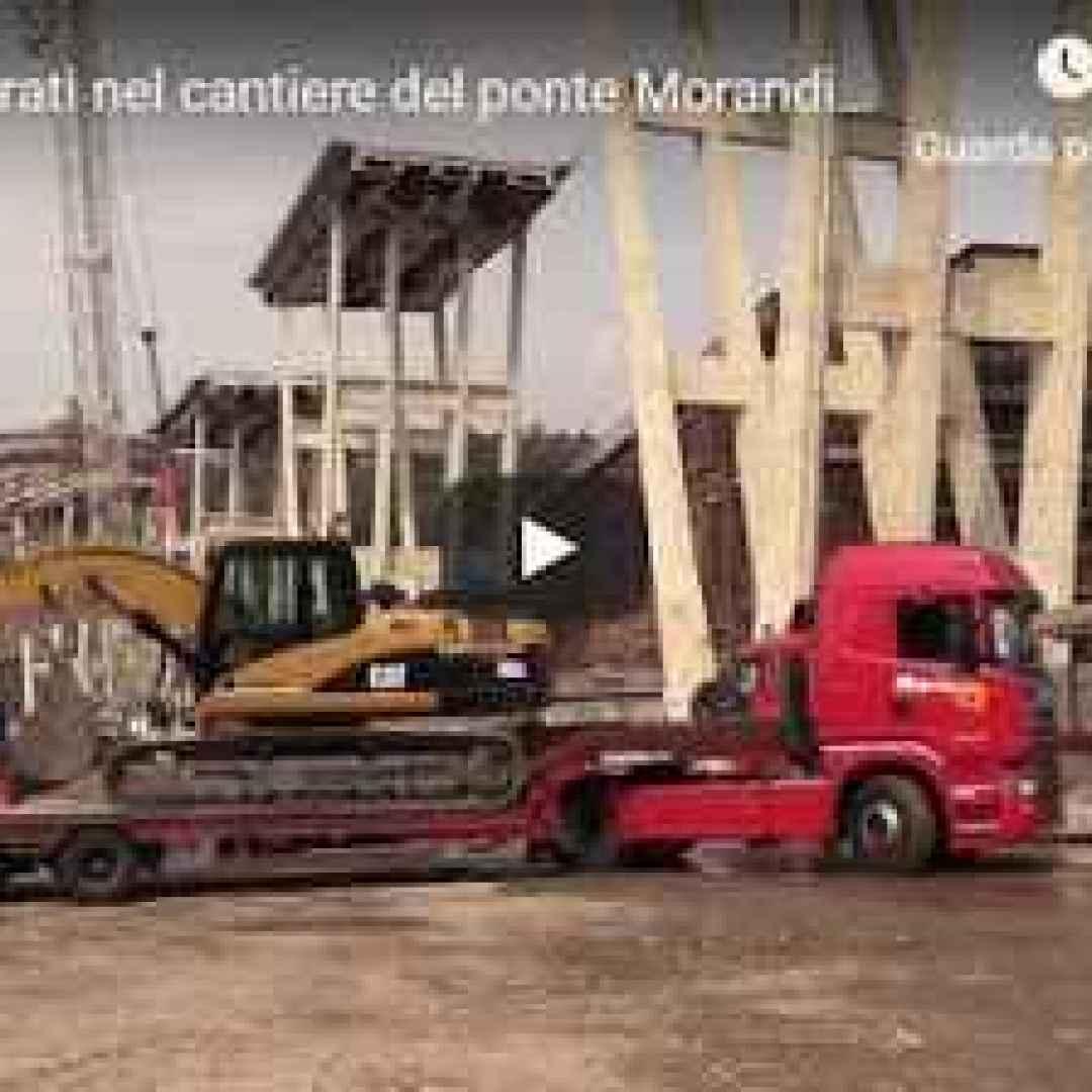 video ponte morandi genova italia