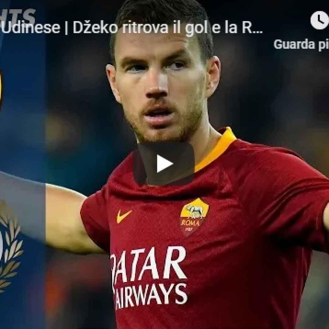 roma udinese video gol calcio