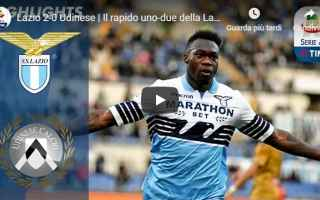 Serie A: lazio udinese video gol calcio