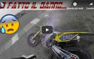 Motori: video honda crash moto motori