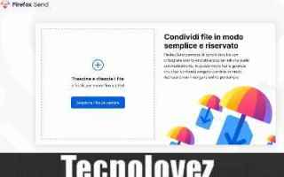 File Sharing: firefox send file sharing inviare file