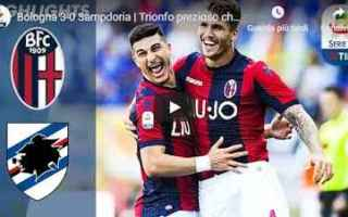 Serie A: bologna sampdoria video gol calcio