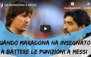 Calcio: maradona messi calcio argentina video