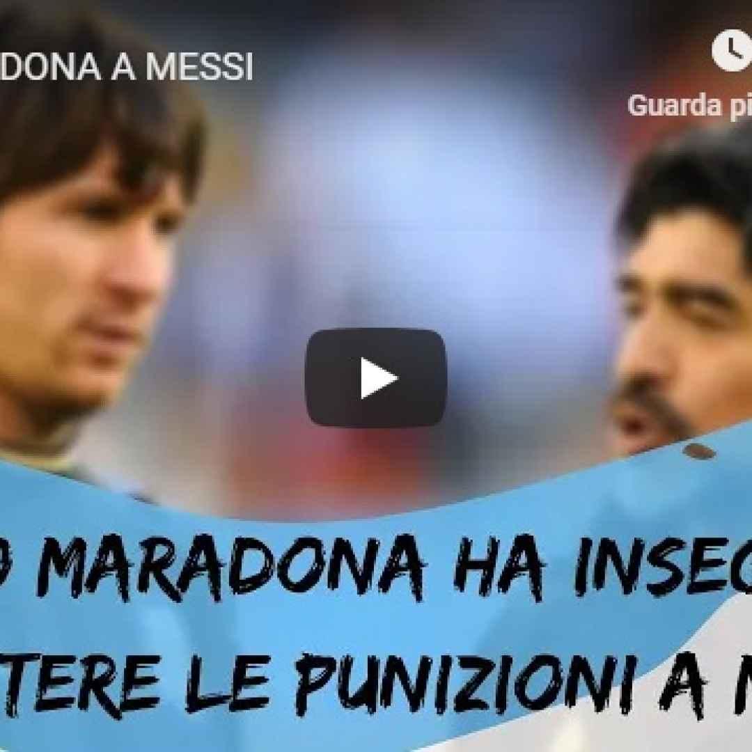 maradona messi calcio argentina video