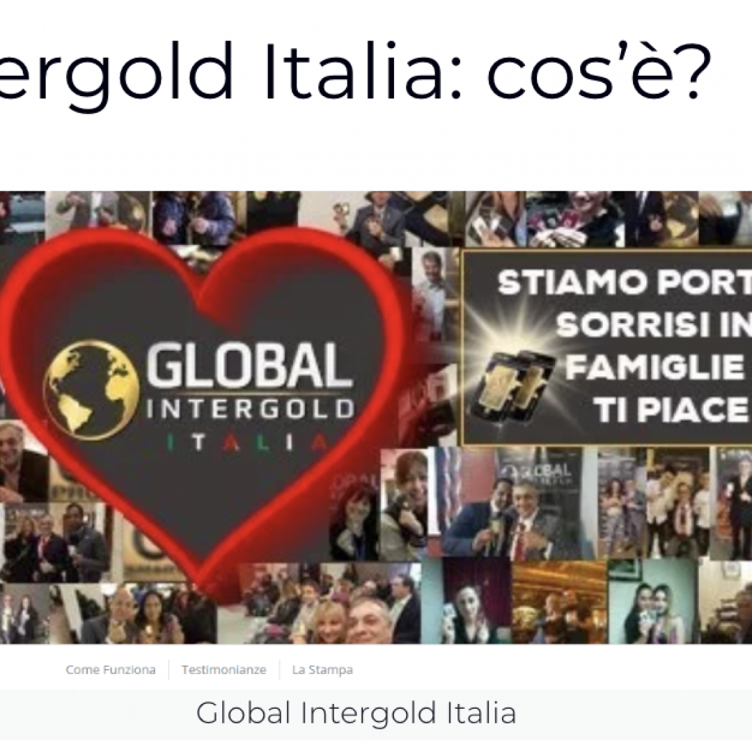 global intergold italia  truffa