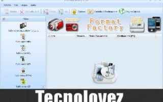 Software Video: format factory  programma