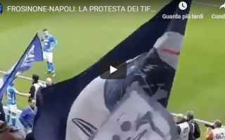 Serie A: napoli protesta tifosi frosinone video