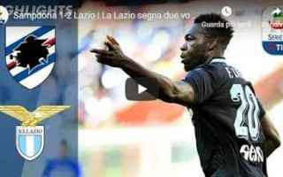 Serie A: sampdoria lazio video gol calcio