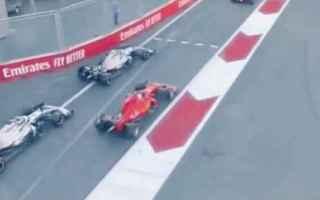 Formula 1: ferrari  baku  mercedes  vettel