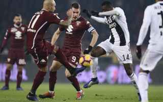 Serie A: juventus  torino  formazioni ufficiali