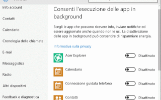 Microsoft: app in background  windows 10