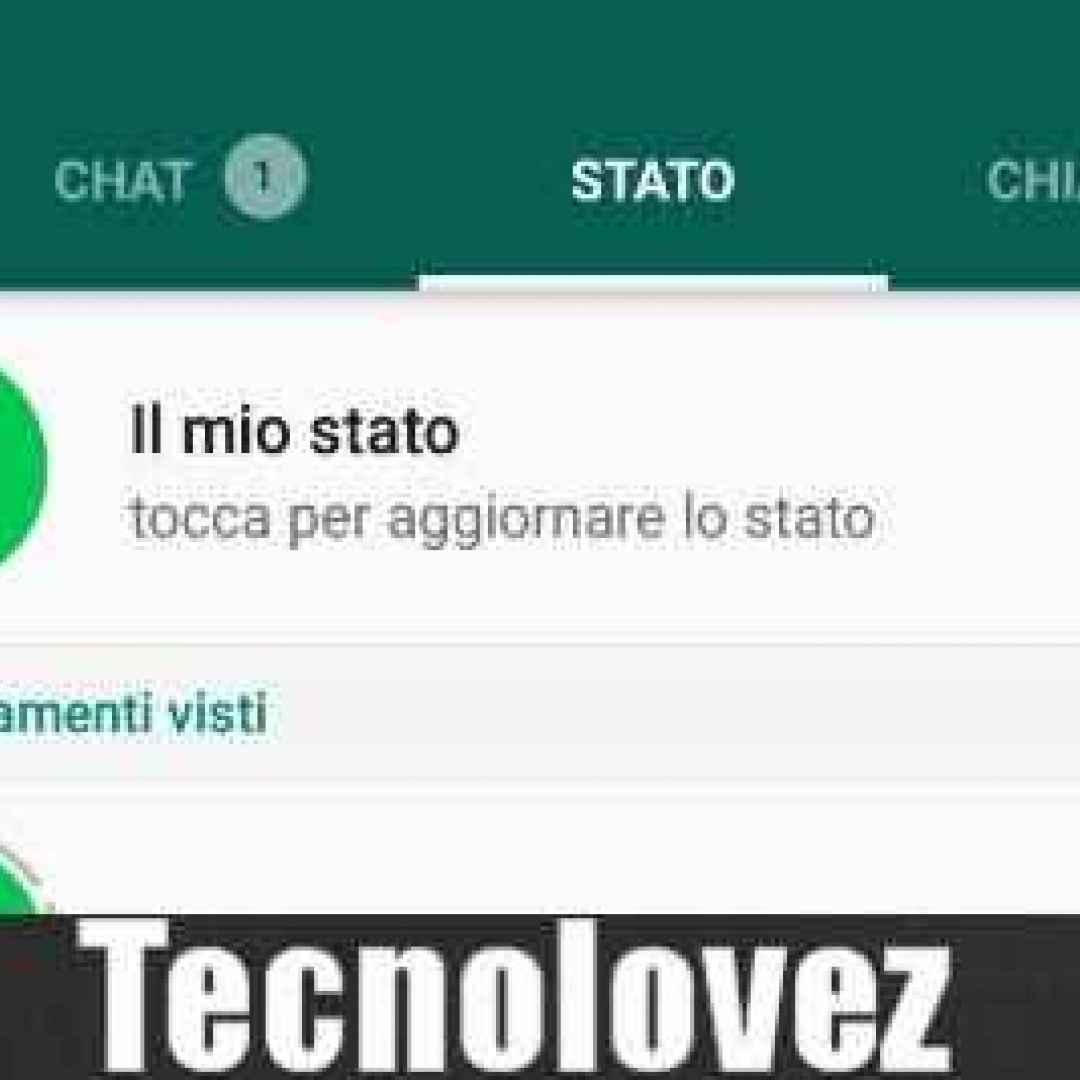 whatsapp storie profilo