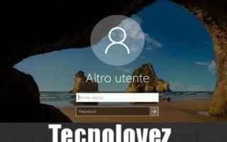 Microsoft: windows 10  nascondere  utente  avvio