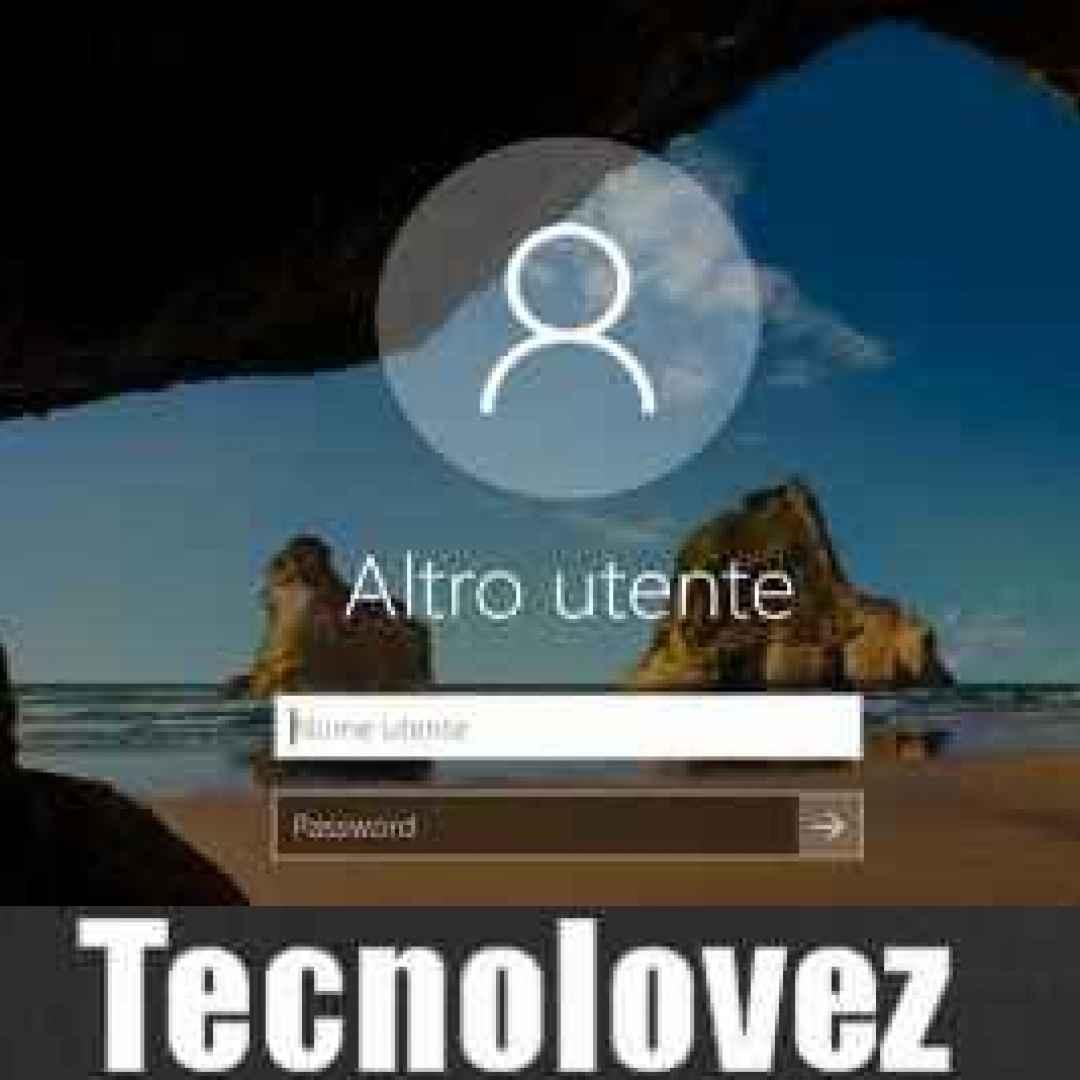windows 10  nascondere  utente  avvio