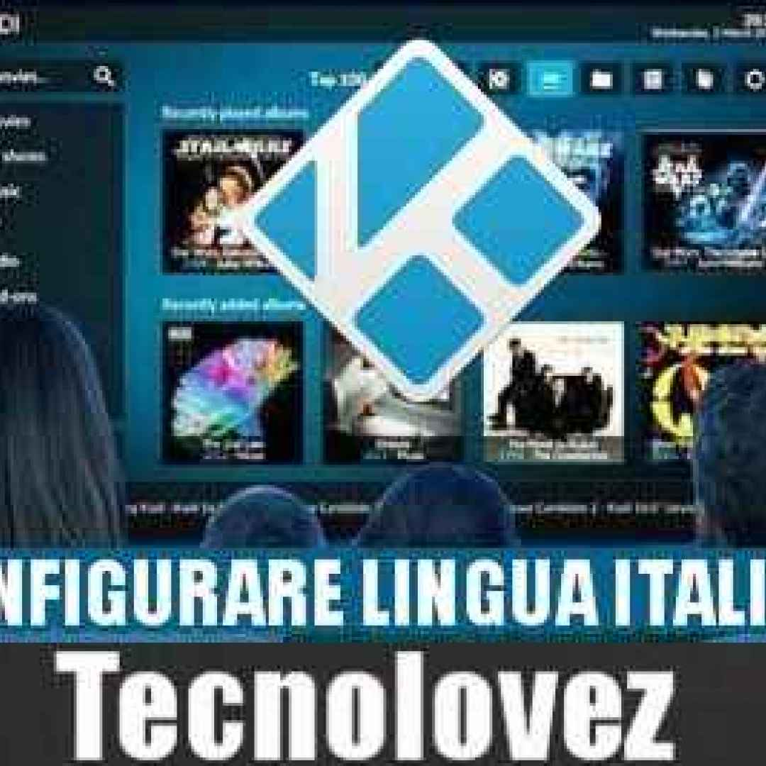 kodi  tutorial  impostare  lingua italiana