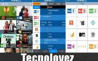 App: app tivu la guida palinsesto tv
