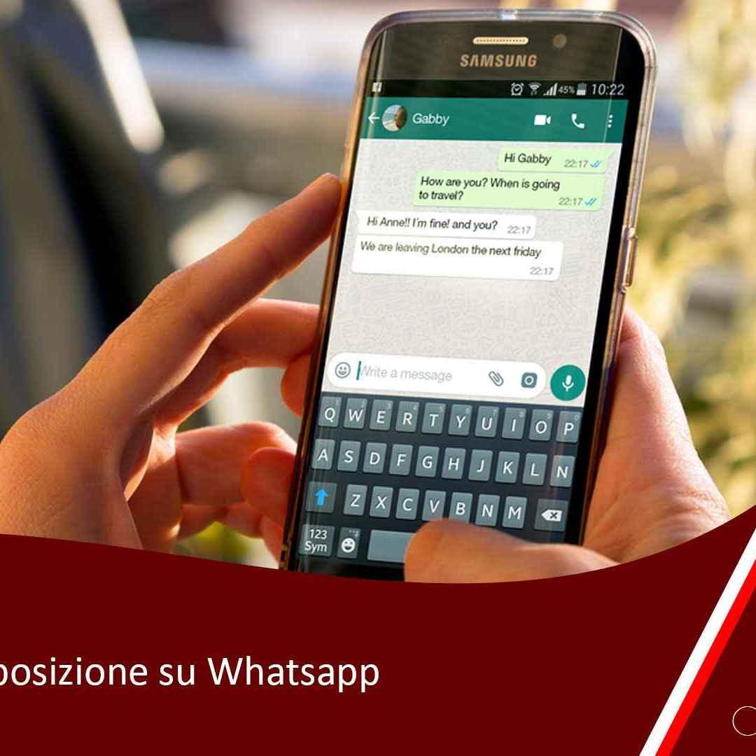 whatsapp  posizione