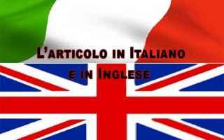 L articolo determinativo in inglese è molto diverso dall uso italiano. In ambito commerciale sarà