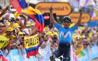 Ciclismo: TOUR DE FRANCE: IMPRESA DI QUINTANA BERNAL STACCA ALAPHILIPPE E THOMAS